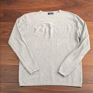 Zara Man heather grey texture weaved shirt